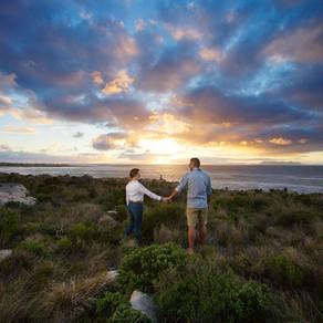 Ocean Sunset Engagement Shoot