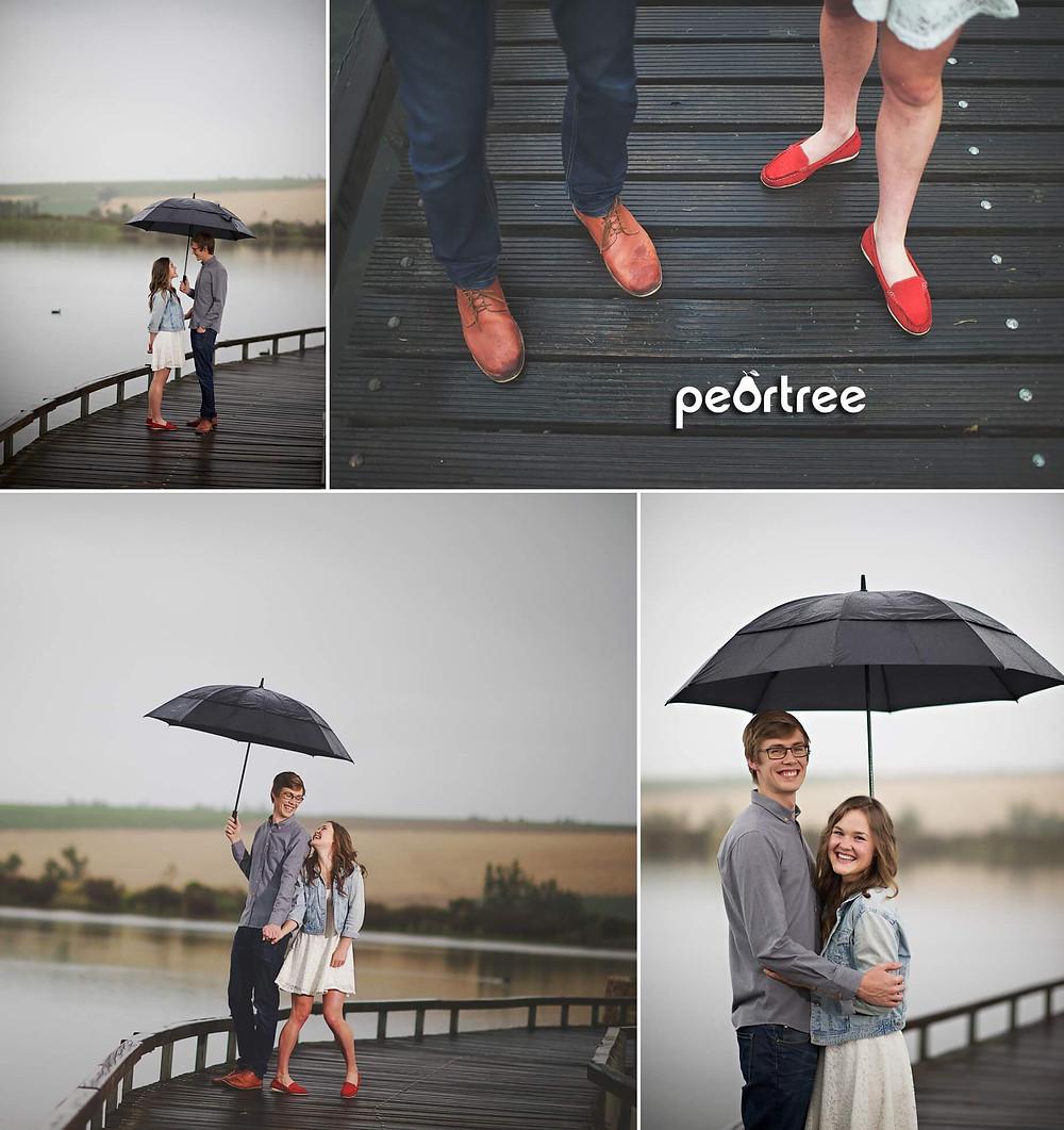 Rainy Stellenbosch Engagement