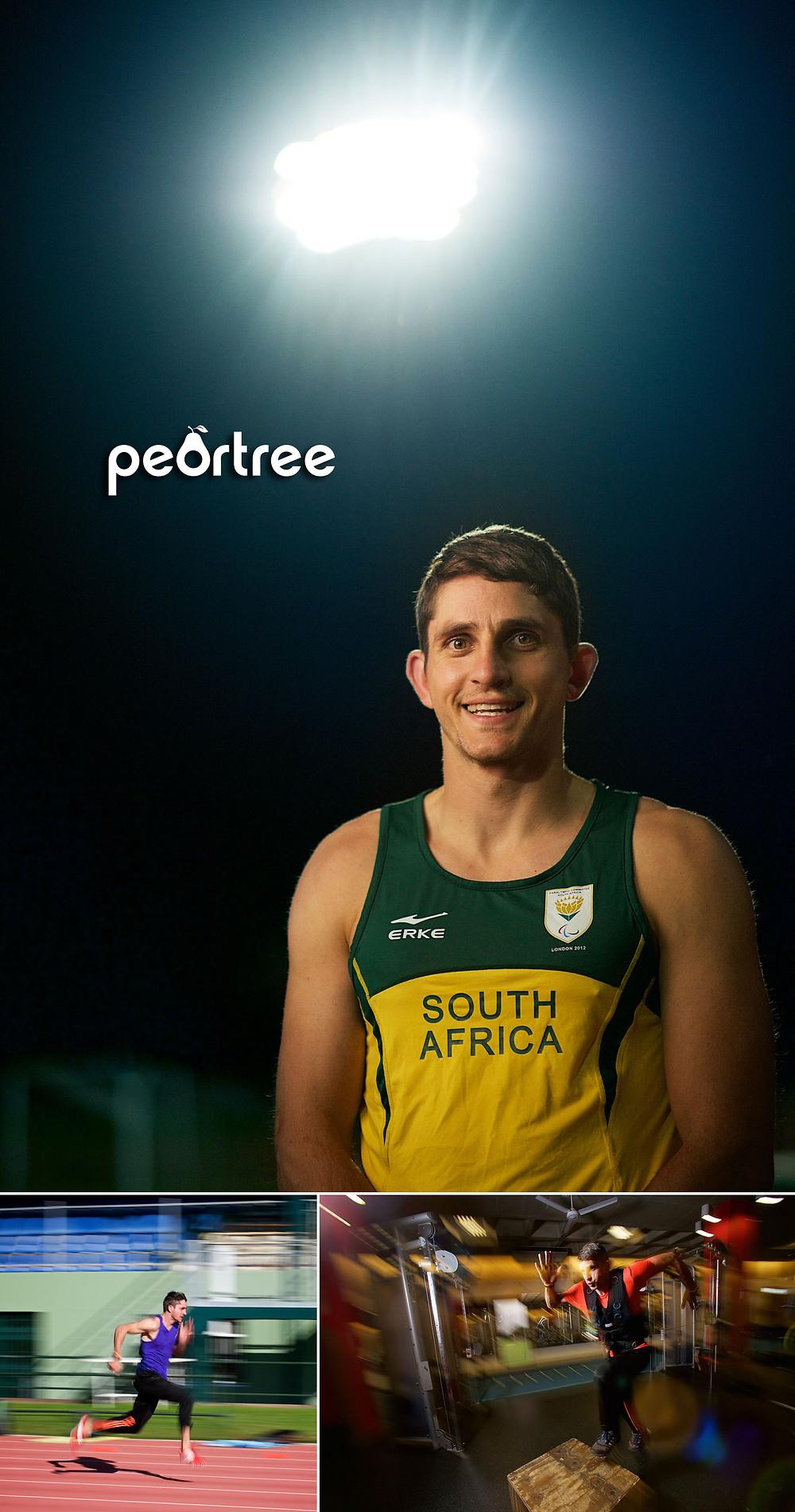 south africa Paralympian fanie van der merwe
