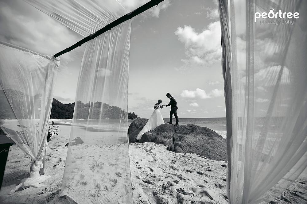 banyan tree mahe seychelles wedding photographer