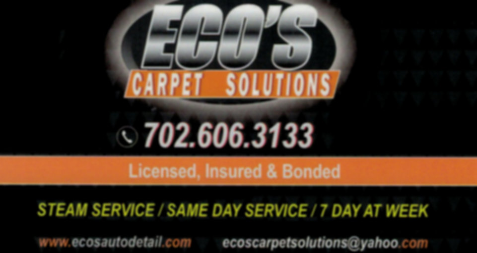 Eco's Carpet Solutions