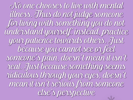 Do not judge someone over something you do not understand...