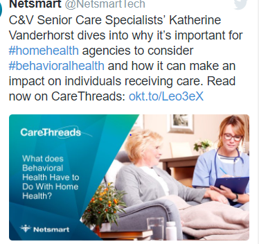 WHAT DOES BEHAVIORAL HEALTH HAVE TO DO WITH HOME HEALTH?