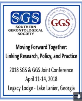 REMINDER-JOIN US at Georgia Gerontology Society and Southern Gerontological Society Conference  Apri