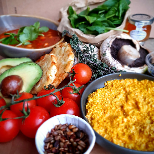 Vegan breakfast hamper for 2