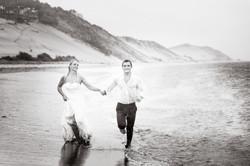 Happily married. Wedding photo