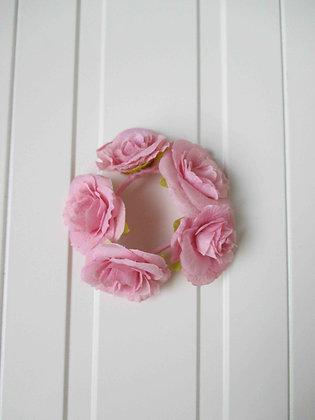 PINK FLOWER HAIRBAND