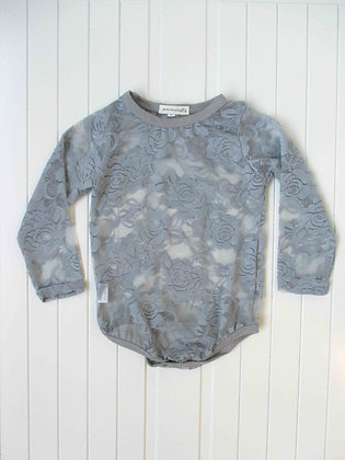 GREY LACE LONG SLEEVE