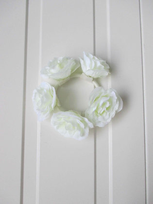 WHITE FLOWER HAIRBAND