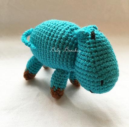 CROCHET HIPPO FIGURE