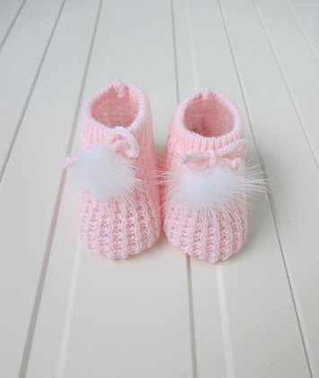 KNITTED FUR BOOTIES