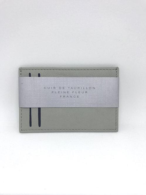CARRE ROYAL - Porte carte simple cuir Gris