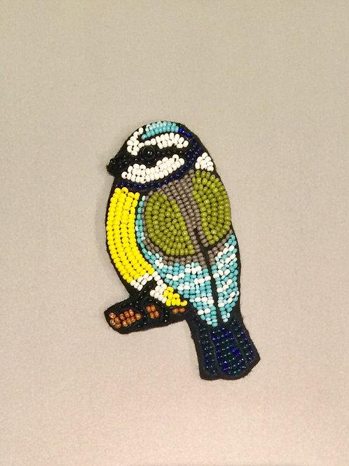 MELVINE - Broche oiseaux brodé de perles