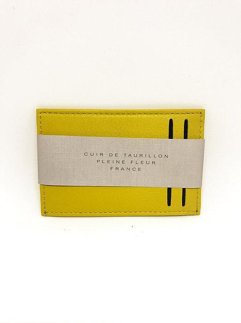 CARRE ROYAL - Porte carte simple cuir Jaune