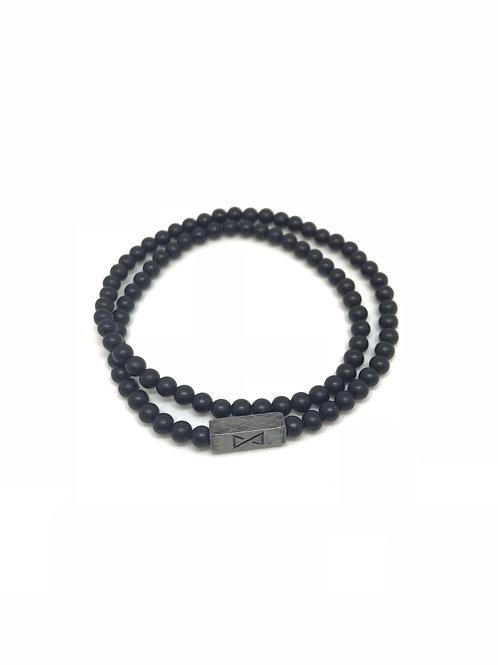 Bracelet en pierre noir