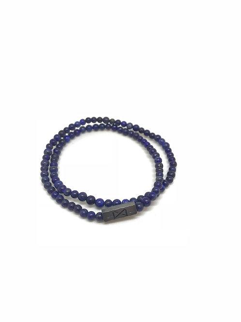 """Bracelet en pierre """"bleu nuit"""""""