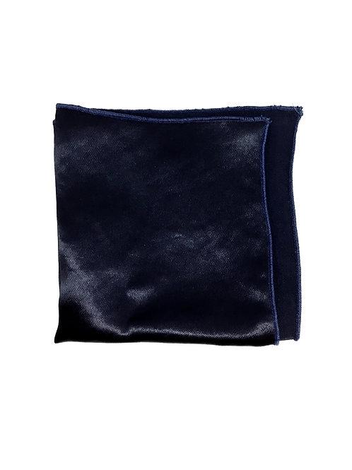 """Pochette de veste unie - Beaux Garçons """"Bleu nuit"""""""