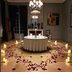 Diner romantique au château