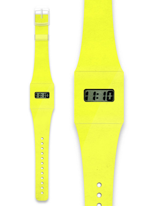 Montre YELLOW - Pappwatch