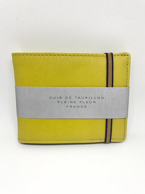 CARRE ROYAL - Portefeuille cuir jaune