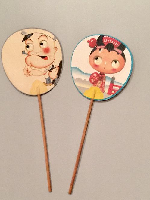 Duo éventails japonais Popeye
