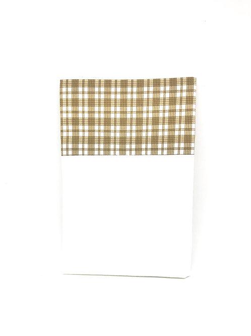 """Pochette de veste - Fil de Laure """"Edition Longines carreau beige"""""""