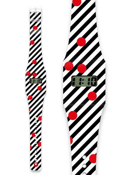 Montre red & black - Pappwatch
