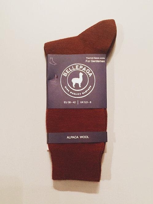 Bellapaga - Chaussette en alpaga camel