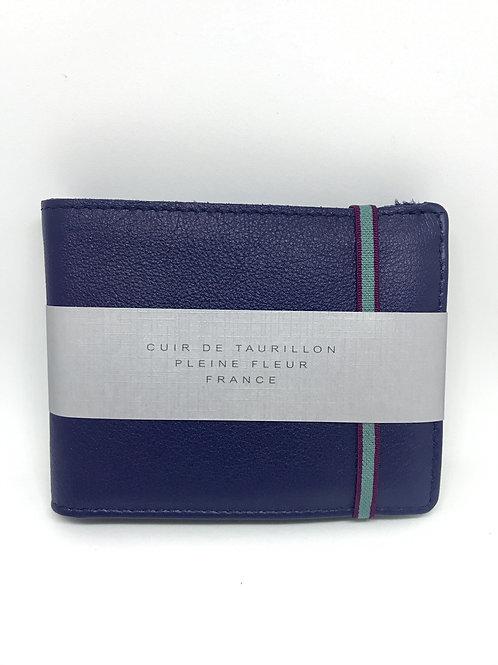 CARRE ROYAL - Portefeuille cuir bleu