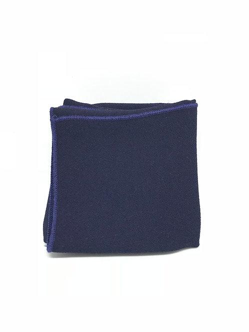 """Pochette de veste - Atelier a Nouer """"Crêpe bleu nuit"""""""