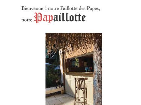 A partir du 5 juin 2021, Maison de Fogasses ouvre sa Paillote des Papes...