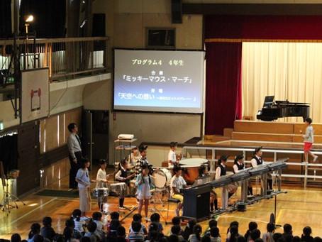 音楽会のプログラム表示にパワーポイントを用いる