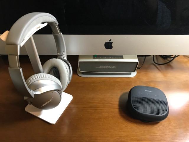 左から「Quiet Comfort 35」「Sound Link Mini」「Sound Link Micro」