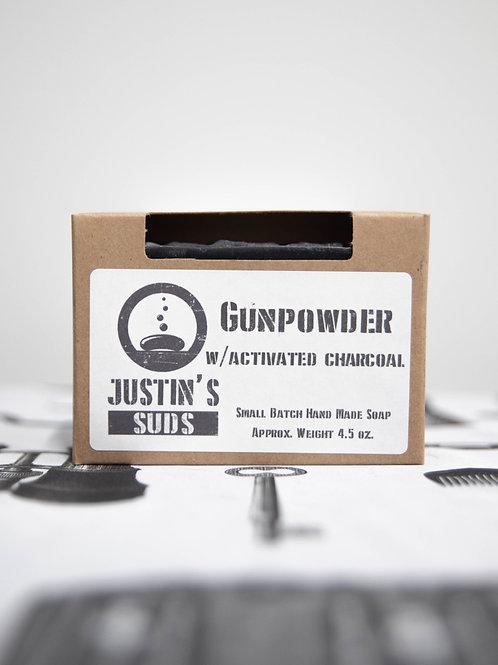 Justin's Suds Gunpowder  Bar Soap