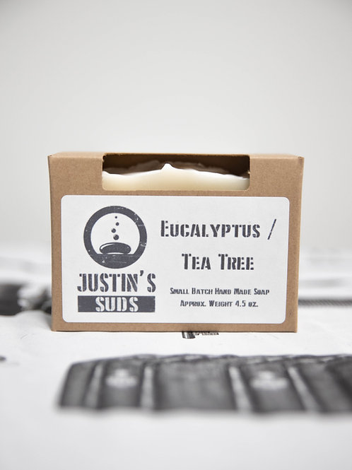 Justin's Suds Eucalyptus/ Tea Tree Bar Soap