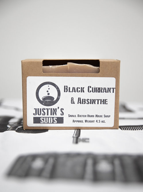 Justin's Suds Black Currant & Absinthe  Bar Soap