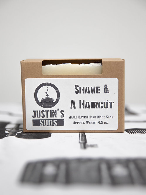 Justin's Suds Shave & A Haircut  Bar Soap