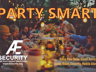 Smart devices keep the party going smoothly, indoors and out.