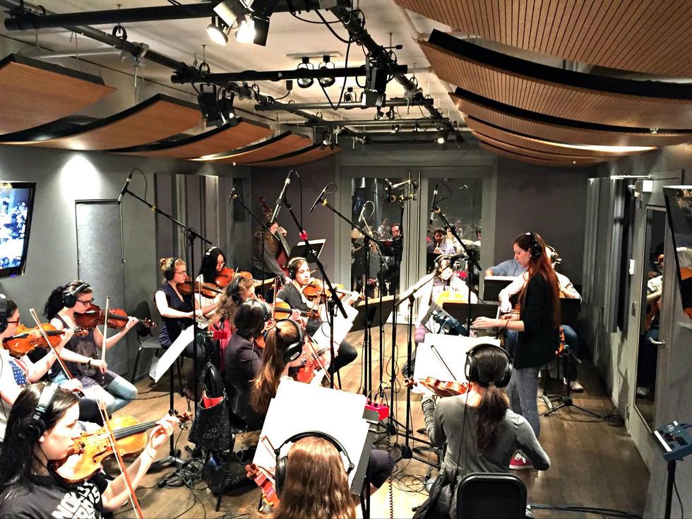 String Ensemble Recording Session