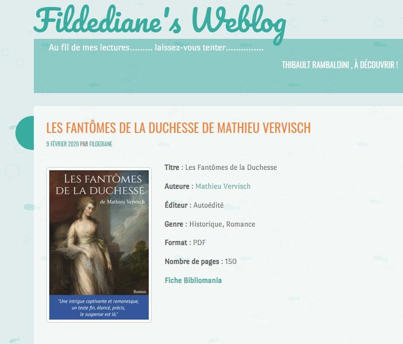 Le Fil de Diane - blog littéraire