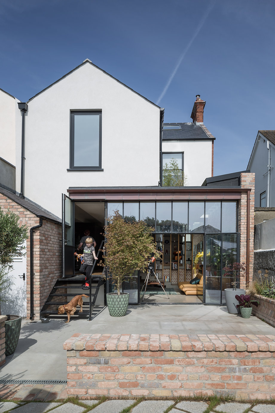 Victorian house connection to garden crittal window