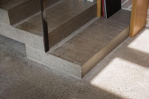 Polished concrete steps