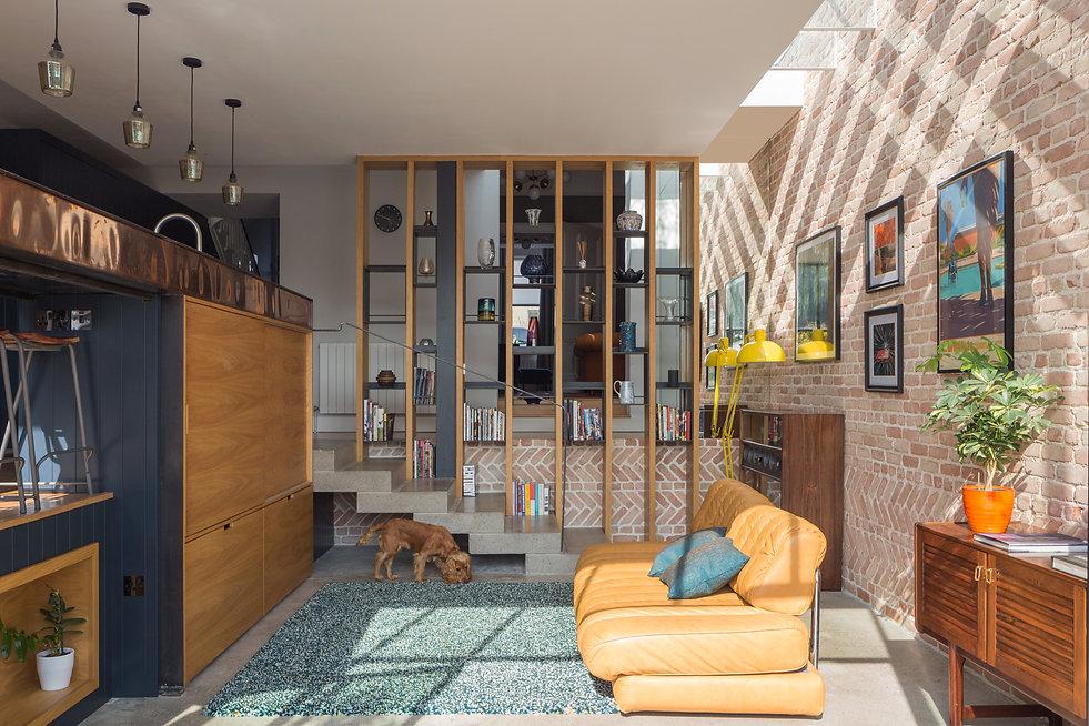toplight pattern mirror brick concrete dog steps