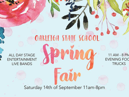 MAJOR SPONSOR FOR THE LOCAL OAKLEIGH STATE SCHOOL FAIR