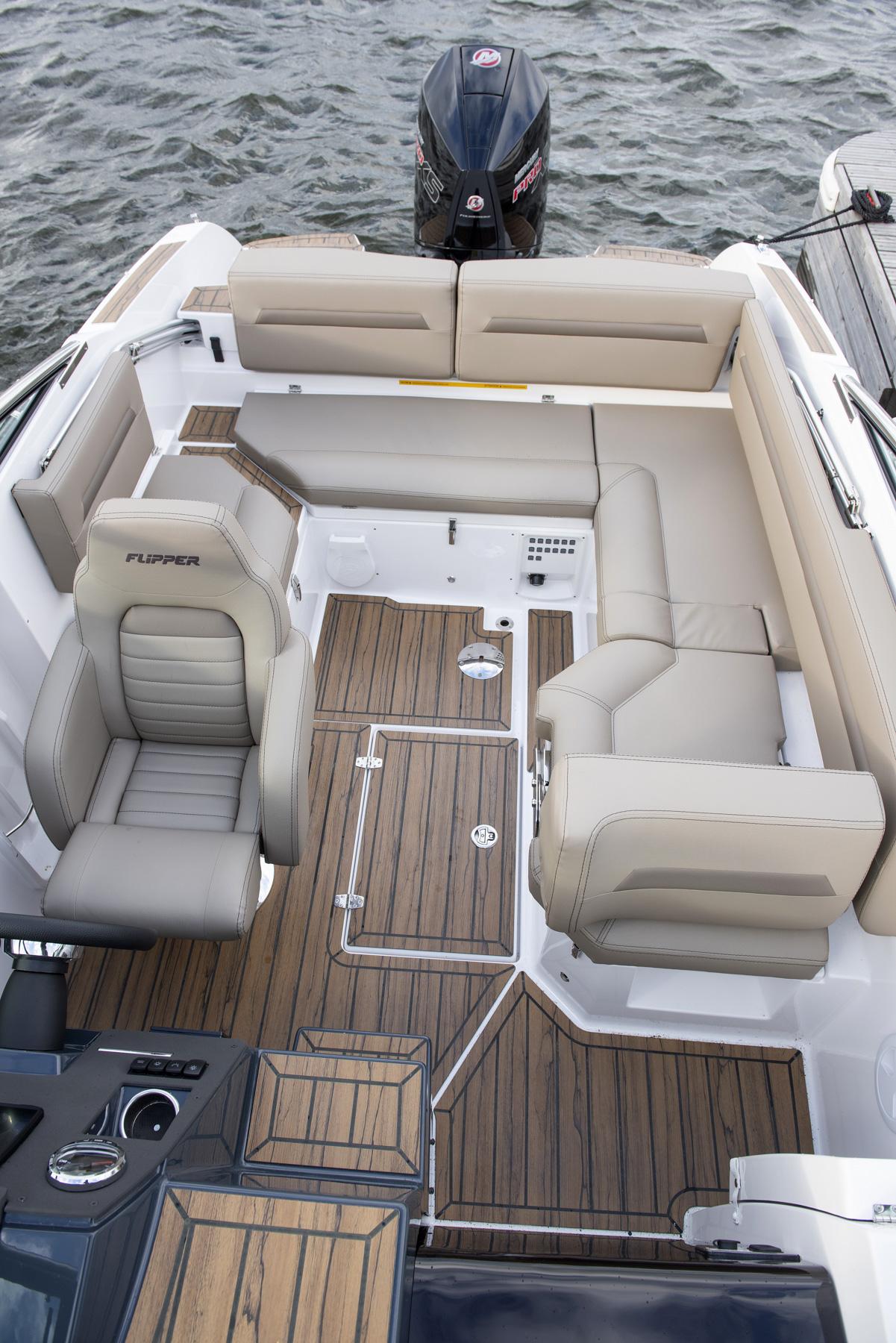 Flipper 650 Day Cruiser aft cockpit overhead
