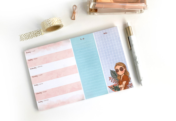 weekly organizer pad