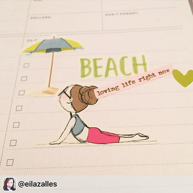 _eilazalles enjoying life! Thanks for sharing! She used the summer sticker set and the Miss Lily Sha