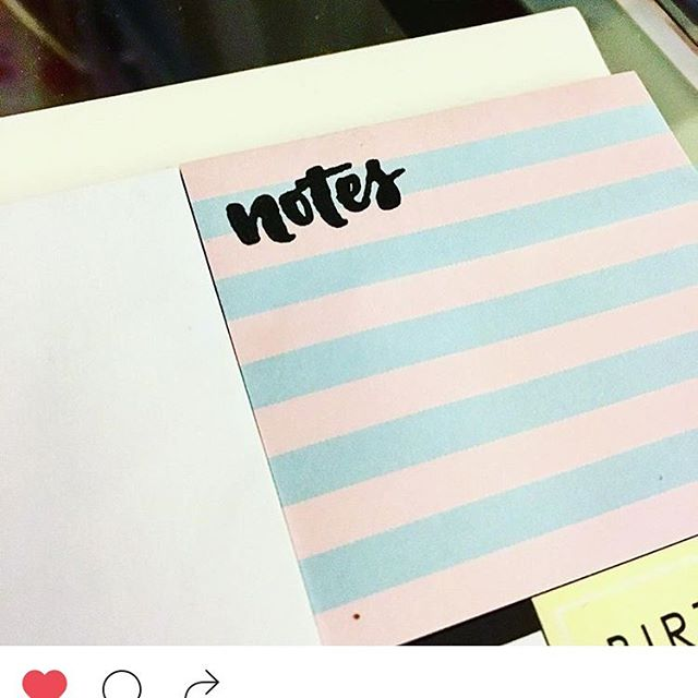 Customizing sticky notes with the Miss Lily Shades stamps, thank youn _theponicorn for sharing! 😍👏