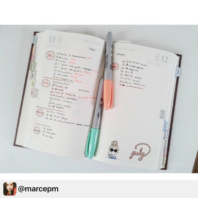 Thank you _marcepm for sharing your Planner using the Lovely Scrolling Tabs and Miss Lily Shades sti