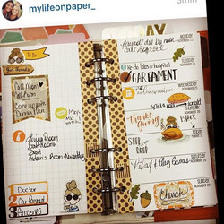 Loving the layout by _mylifeonpaper_  using my Miss Lily Shades Autumn set! #autumn #thanksgiving